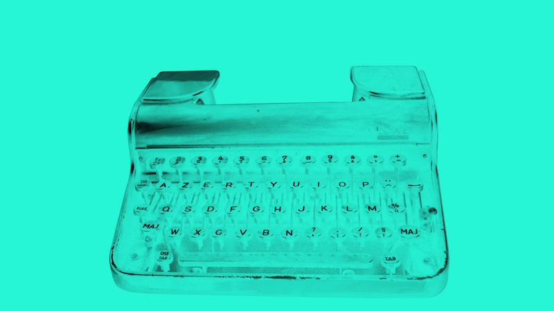 Typewriter, Inverted Colors